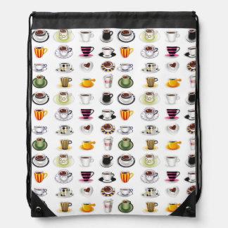 Coffee Fun Drawstring Bags