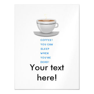 Coffee funny text magnetic invitations