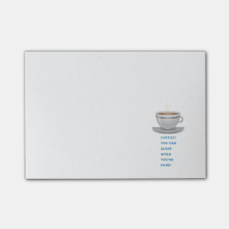 Coffee funny text post-it notes