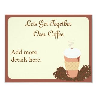 "Coffee Get Together 4.25"" X 5.5"" Invitation Card"