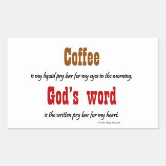 coffee god s word stickers