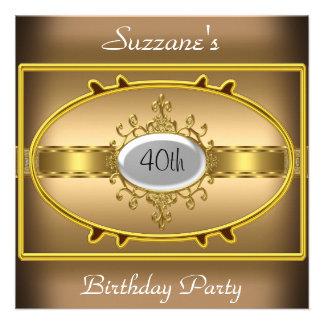Coffee Gold Birthday Party Caramel Invitation Personalized Invite