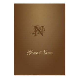 Coffee Gold Elegant Pack Of Chubby Business Cards