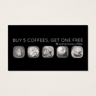 coffee grams punch business card