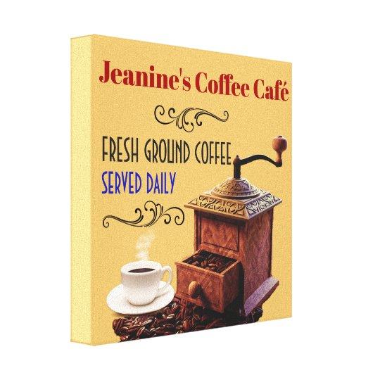 "Coffee Grinder Coffee Cafe 12""X12"" Canvas Print"