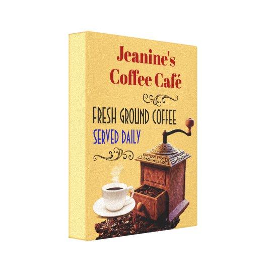 "Coffee Grinder Coffee Cafe 8""X10"" Canvas Print"