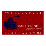 Coffee Grinder / Loyalty Punch Pack Of Standard Business Cards