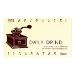 Coffee Grinder / Loyalty Punch Business Card Template