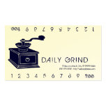 Coffee Grinder / Loyalty Punch Business Cards