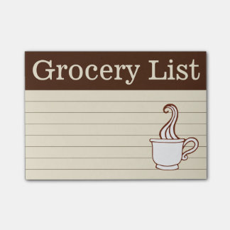 Coffee Grocery Shopping List Post It Notes Gift
