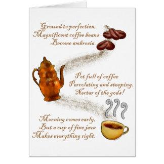 Coffee Haiku Greeting Card