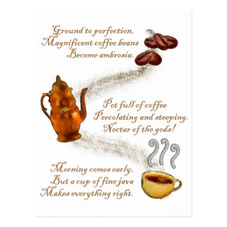 Coffee Haiku Postcard