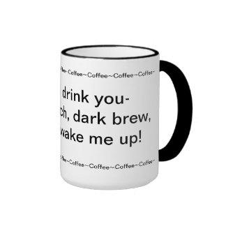 Coffee Haiku Ringer Mug
