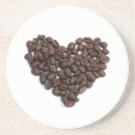 Coffee heart beverage coaster