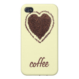 coffee heart iPhone 4 cover