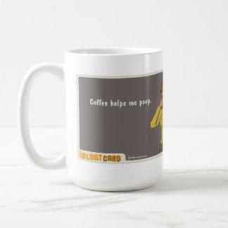 coffee helps me poop classic white coffee mug