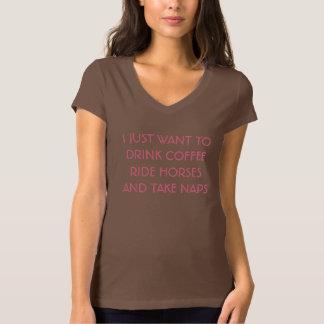 Coffee, Horses, & Naps Tee