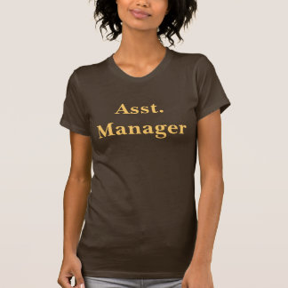 Coffee House Asst.Manager T Shirt. Brown and Mocha
