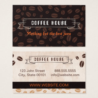 Coffee House Beans Business Card
