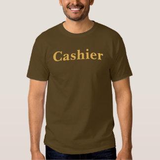 Coffee House Cashier T Shirt. Brown and Mocha Shirt