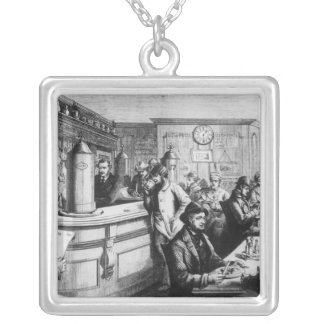 Coffee house, Clerkenwell Silver Plated Necklace