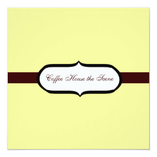 "Coffee House 5.25"" Square Invitation Card"