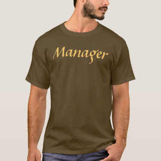 Coffee House Manager T Shirt. Brown and Mocha T-Shirt