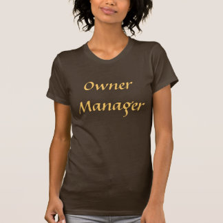 Coffee House Owner Manager T Shirt. Brown and Moch T-Shirt