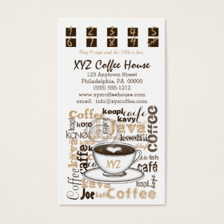 Coffee House Punch | Loyalty Cards