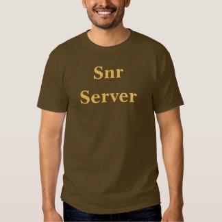 Coffee House Snr Server T Shirt. Brown and Mocha Tshirts