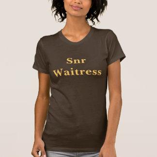 Coffee House Snr Waitress T Shirt. Brown and Mocha