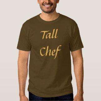 Coffee House Tall Chef T Shirt. Brown and Mocha Shirt