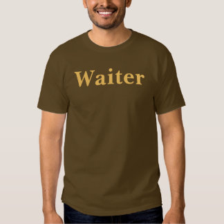 Coffee House Waiter T Shirt. Brown and Mocha Tees
