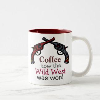 Coffee, how the Wild West was won! Two-Tone Mug