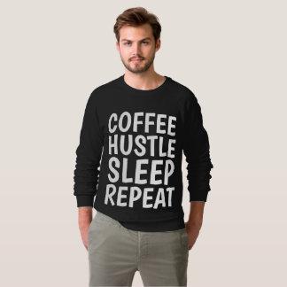 COFFEE HUSTLE SLEEP REPEAT Funny T-shirts