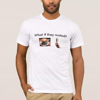 COFFEE, ice-cream-swirly-cone, What if they mated? T-Shirt