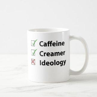 Coffee Ideology-Free Basic White Mug