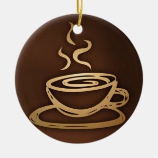 Coffee In My Cup Christmas Ornament