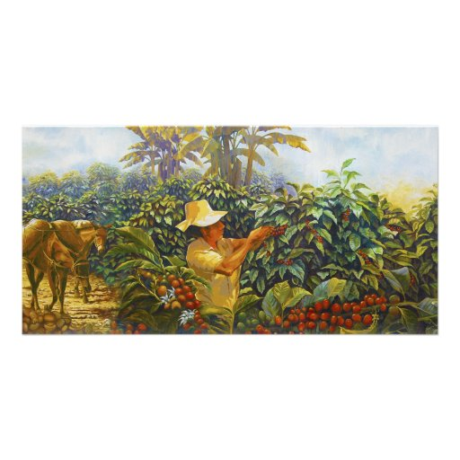 Coffee in the Park Mural by Master Henry Villada Personalized Photo Card