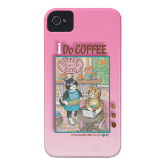 Coffee/Internet Cats iPhone 4 Case (Bud and Tony)
