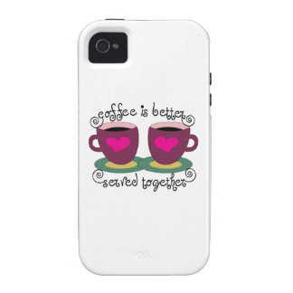 Coffee Is Better Served Together iPhone 4/4S Covers