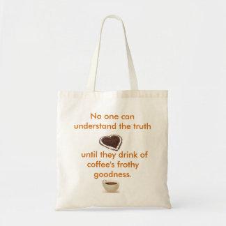 Coffee is good budget tote bag