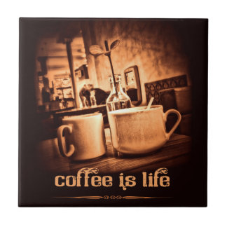 Coffee is Life Small Square Tile