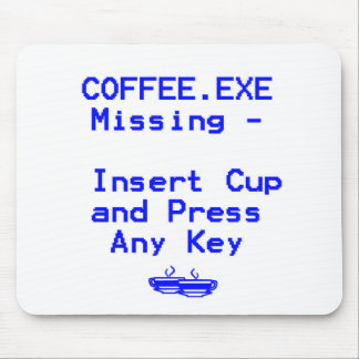 Coffee is missing mouse pads