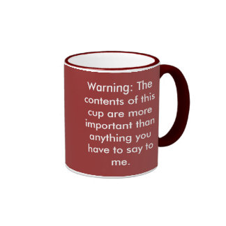Coffee-isms Ringer Mug