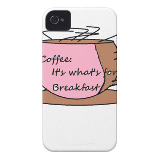 Coffee: It's What's for Breakfast iPhone 4 Cases