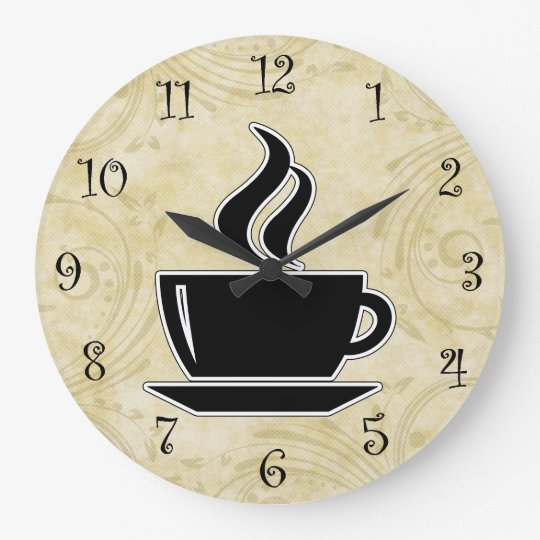 Coffee kitchen wall clocks zazzle - Coffee themed wall clocks ...