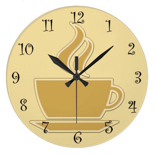 Coffee Kitchen Wall Clocks Zazzle