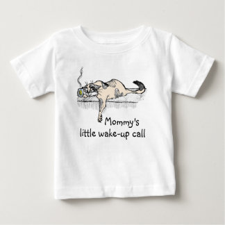 """Coffee Kitty is NOT a morning cat *ahem* """"person""""! Tee Shirt"""