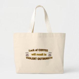 coffee lack jumbo tote bag